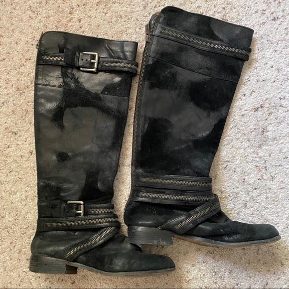 Michael Kors Suede Black Boots